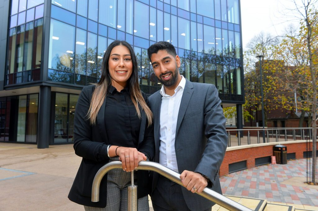 Pictured above, Nimmy Uppal and Amal Mashru from Mattioli Woods. Picture Credit: Pukaar News